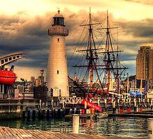 Lighthouse - Darling Harbour - HDR by Michael Patsalou