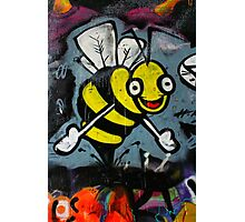 Bumble Bee Hugs - Hosier Lane, Melbourne Photographic Print