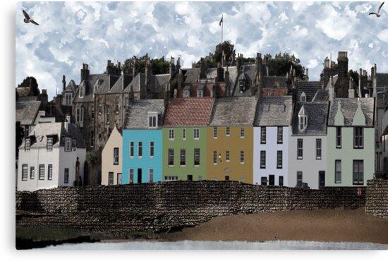 Seaside Village Scene - Anstruther Scotland by simpsonvisuals