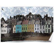 Seaside Village Scene - Anstruther Scotland Poster