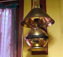 Copper Kerosene Lamp by Kenneth Hoffman