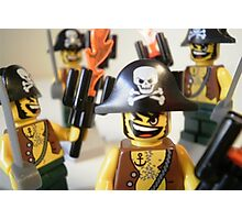 Pirate Captain Minifigure with Flame Torch Photographic Print