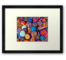 Knit Balls in Many Colors Framed Print