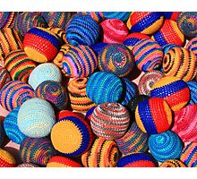 Knit Balls in Many Colors Photographic Print