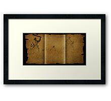 Parchment scam Framed Print