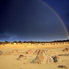 Rainbow at The Pinnacles by Tatiana R