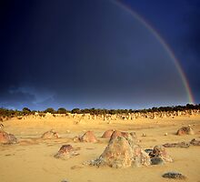 Rainbow at The Pinnacles by Tatiana R