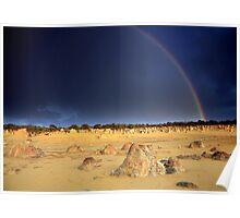 Rainbow at The Pinnacles Poster