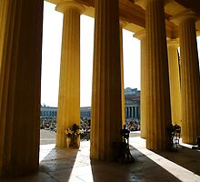 Yellow colonnade by Valeria Palombo