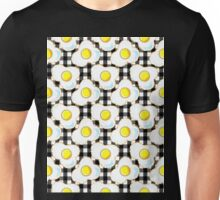 Eggs (black gingham) Unisex T-Shirt