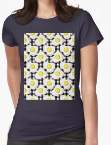 Eggs (black gingham) Womens Fitted T-Shirt