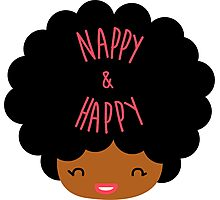 Happy Nappy Afro Photographic Print