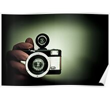 My hand and my Lomo camera. Poster