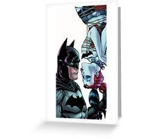 batman meet Harley Quinn kiss Greeting Card