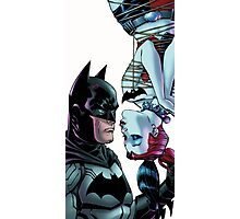 batman meet Harley Quinn kiss Photographic Print
