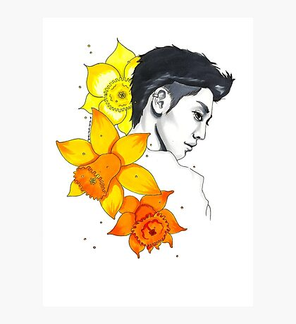 I am your FLOWER BOYFRIEND || Kwangmin Photographic Print