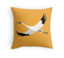 Whooping Crane - Whoop It Up Y'All Throw Pillow
