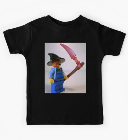 Scary Halloween Scarecrow Custom Minifigure Kids Tee