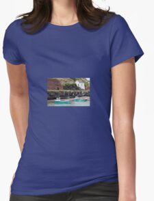 Fishing Boats, Porthgain Harbour, Pembrokeshire Womens Fitted T-Shirt