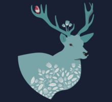 Blue Deer One Piece - Long Sleeve