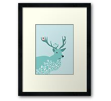 Blue Deer Framed Print
