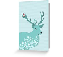 Blue Deer Greeting Card