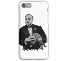 The Godfather with a cat iPhone Case/Skin
