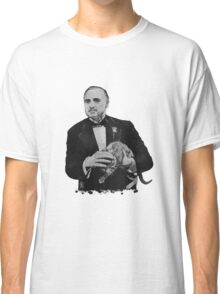The Godfather with a cat Classic T-Shirt