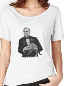 The Godfather with a cat Women's Relaxed Fit T-Shirt