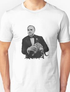 The Godfather with a cat Unisex T-Shirt