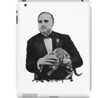 The Godfather with a cat iPad Case/Skin