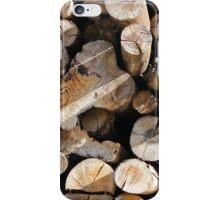 Stack of Cut Logs iPhone Case/Skin