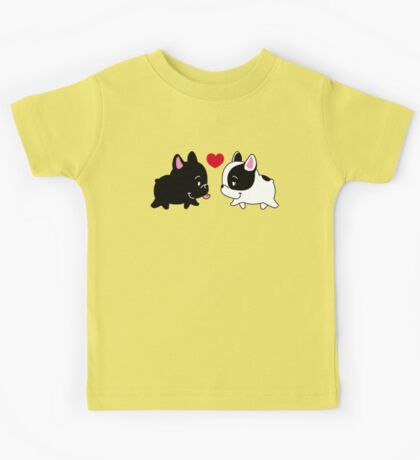Frenchies in Love Kids Tee