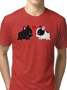 Frenchies in Love Tri-blend T-Shirt
