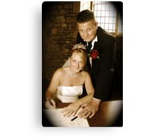 Paul/Viv,  -  Wedding  Canvas Print