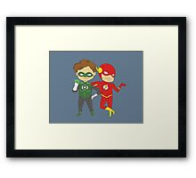 GL & The Flash Framed Print