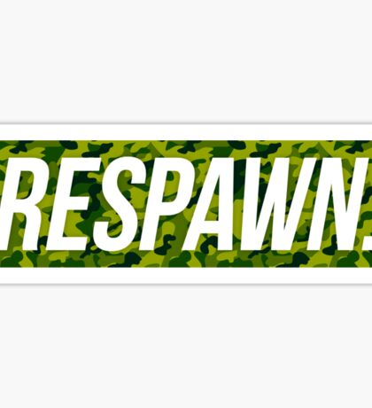 Respawn Camo Sticker