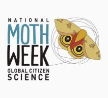 National Moth Week - logo horizontal Kids Tee