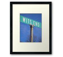 Wits End Framed Print