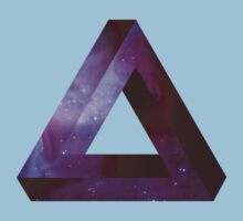 Infinite Penrose Triangle Galaxy Kids Clothes