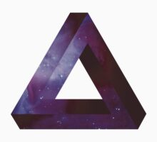 Infinite Penrose Triangle Galaxy Baby Tee