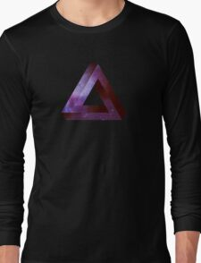 Infinite Penrose Triangle Galaxy Long Sleeve T-Shirt