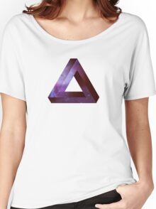 Infinite Penrose Triangle Galaxy Women's Relaxed Fit T-Shirt
