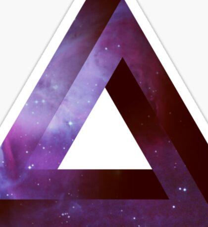 Infinite Penrose Triangle Galaxy Sticker