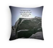 Cleft of The Rock Throw Pillow