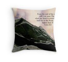 Psalms 61:2 Throw Pillow