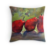 Delicate Balance-Pears with grape leaves Throw Pillow