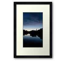 Blue Sunset Framed Print