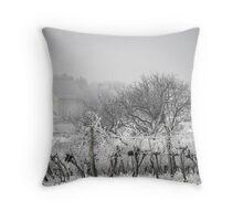 Austrian village in winter Throw Pillow