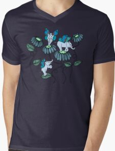 Look Out For Elephlies Mens V-Neck T-Shirt